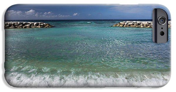 Panoramic Ocean iPhone Cases - 0460 DePalm Island Aruba iPhone Case by Steve Sturgill