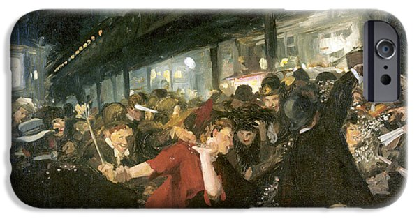 Election iPhone Cases - Election Night iPhone Case by John Sloan