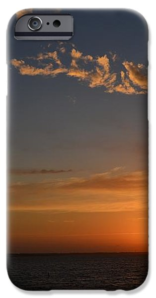 0502 Palms with Sunrise Colors on Santa Rosa Sound iPhone Case by Jeff at JSJ Photography