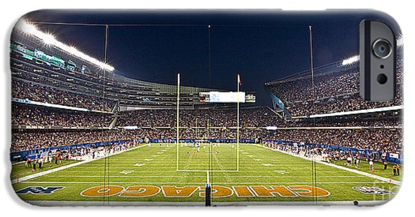 Soldier Field iPhone Cases - 0587 Soldier Field Chicago iPhone Case by Steve Sturgill