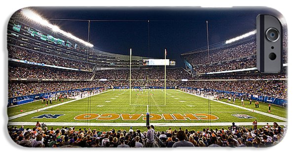 Soldier Field iPhone Cases - 0588 Soldier Field Chicago iPhone Case by Steve Sturgill