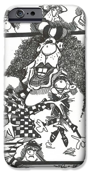 Pen And Ink iPhone Cases - 061 iPhone Case by Philip Blanche
