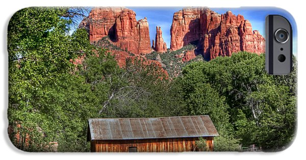 Recently Sold -  - Cathedral Rock iPhone Cases - 0682 Red Rock Crossing - Sedona Arizona iPhone Case by Steve Sturgill