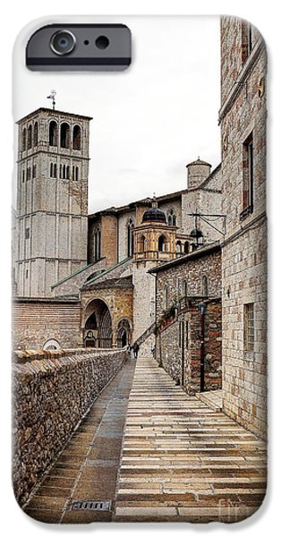 Santa Maria Degli Angeli iPhone Cases - 0799 Assisi Italy iPhone Case by Steve Sturgill