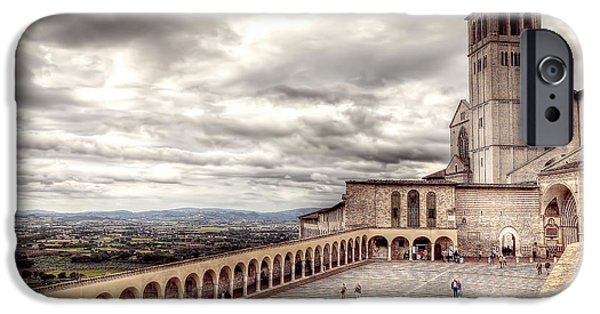 Santa Maria Degli Angeli iPhone Cases - 0800 Assisi Italy iPhone Case by Steve Sturgill