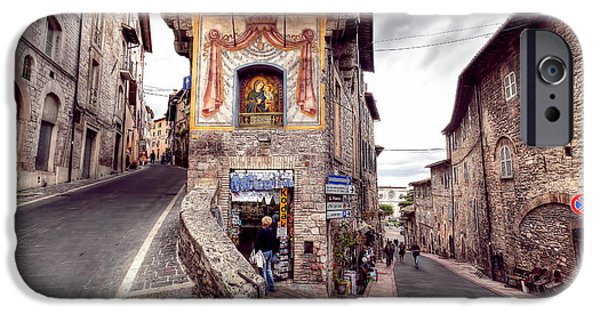 Santa Maria Degli Angeli iPhone Cases - 0801 Assisi Italy iPhone Case by Steve Sturgill