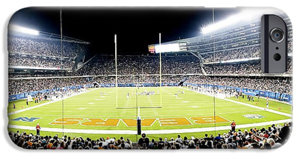 Soldier Field iPhone Cases - 0856 Soldier Field Panoramic iPhone Case by Steve Sturgill