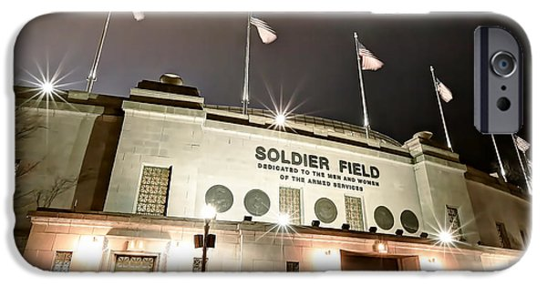 Soldier Field iPhone Cases - 0878 Soldier Field iPhone Case by Steve Sturgill