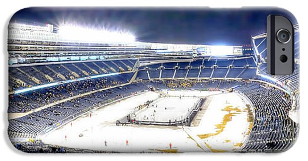 Soldier Field iPhone Cases - 0880 Hockey City Classic - Chicago iPhone Case by Steve Sturgill