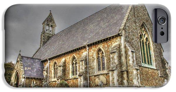 St John The Evangelist Photographs iPhone Cases -   St John The Evangelist Kingsdown iPhone Case by Dave Godden