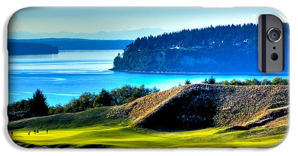 Us Open iPhone Cases - #14 at Chambers Bay Golf Course - Location of the 2015 U.S. Open Tournament iPhone Case by David Patterson