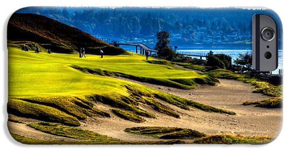 Us Open Photographs iPhone Cases - #16 at Chambers Bay Golf Course - Location of the 2015 U.S. Open Tournament iPhone Case by David Patterson