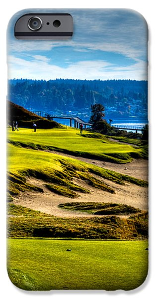 #16 at Chambers Bay Golf Course - Location of the 2015 U.S. Open Tournament iPhone Case by David Patterson
