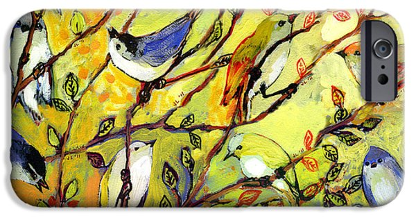 Series iPhone Cases - 16 Birds iPhone Case by Jennifer Lommers