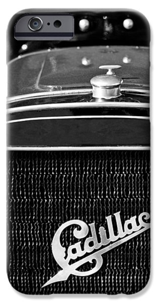 1907 iPhone Cases - 1907 Cadillac Model M Touring Grille Emblem iPhone Case by Jill Reger