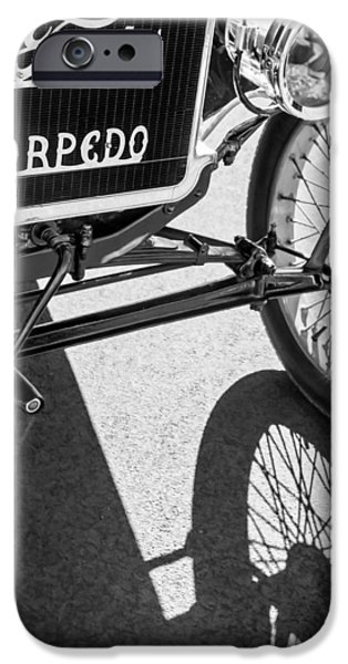 Ford Model T Car iPhone Cases - 1911 Ford Model T Torpedo Grille Emblem iPhone Case by Jill Reger