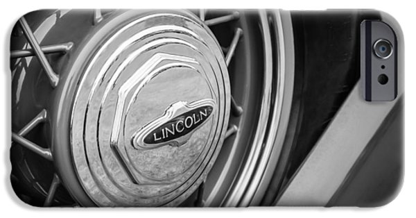 Lincoln iPhone Cases - 1933 Lincoln KB Judkins Coupe Emblem - Spare Tire iPhone Case by Jill Reger