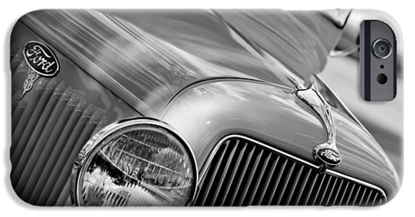 Ford V8 iPhone Cases - 1934 Ford V8 Grille - Emblem iPhone Case by Jill Reger