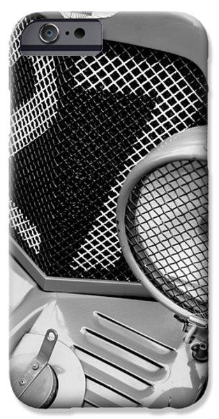 1935 Aston Martin Ulster Race Car Grille iPhone Case by Jill Reger