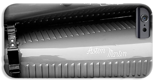 D.w iPhone Cases - 1935 Aston Martin Ulster Race Car Hood iPhone Case by Jill Reger