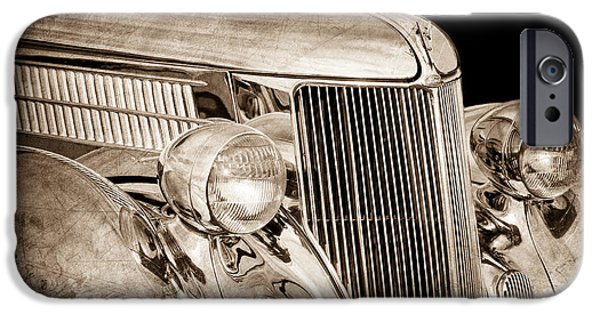 Stainless Steel iPhone Cases - 1936 Ford - Stainless Steel Body iPhone Case by Jill Reger