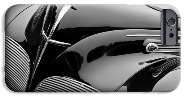 Lincoln iPhone Cases - 1938 Lincoln-Zephyr Convertible Coupe Grille - Hood Ornament - Emblem iPhone Case by Jill Reger