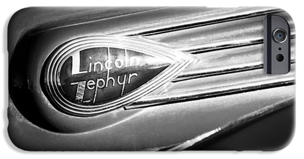 Lincoln iPhone Cases - 1938 Lincoln Zephyr Emblem iPhone Case by Jill Reger