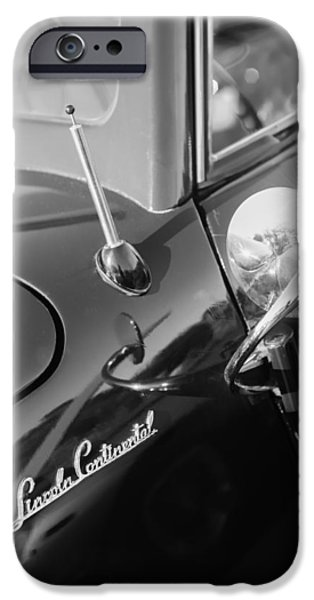 1941 iPhone Cases - 1941 Lincoln Continental Convertible Emblem iPhone Case by Jill Reger