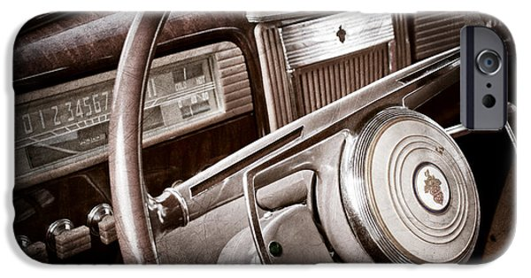 1941 iPhone Cases - 1941 Packard Steering Wheel Emblem iPhone Case by Jill Reger