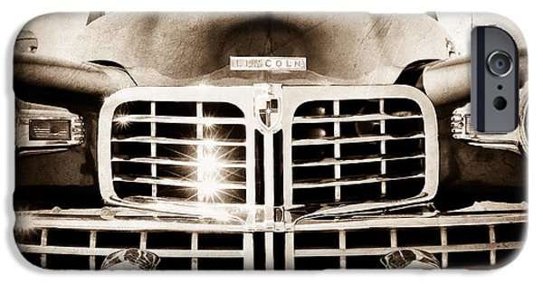 Lincoln iPhone Cases - 1948 Lincoln Continental Grille Emblem iPhone Case by Jill Reger