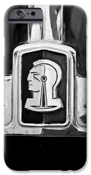 1948 Pontiac Streamliner Woodie Station Wagon Emblem iPhone Case by Jill Reger