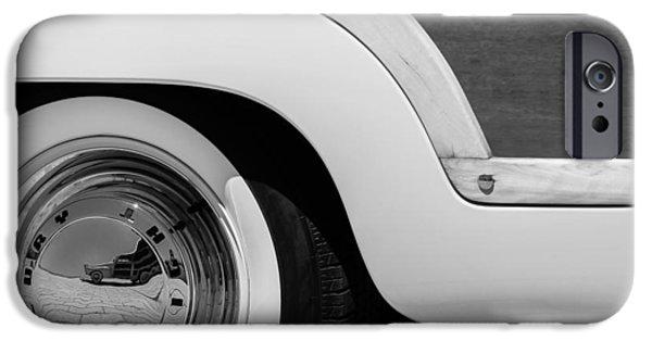 Wagon Wheels Photographs iPhone Cases - 1949 Mercury Station Woodie Wagon Wheel Emblem - Hood Ornament iPhone Case by Jill Reger