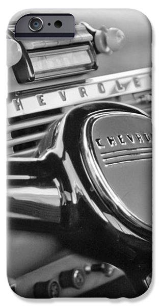 1950 Chevrolet 3100 Pickup Truck Steering Wheel iPhone Case by Jill Reger