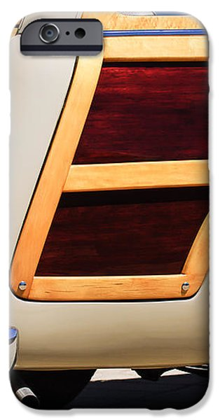 1950 Ford Custom Deluxe Station Wagon Rear End - Woodie iPhone Case by Jill Reger