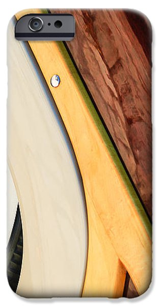1950 Ford Custom Deluxe Woodie Station Wagon Wheel iPhone Case by Jill Reger