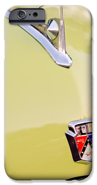 1950 iPhone Cases - 1950 Ford Hood Ornament - Emblem iPhone Case by Jill Reger