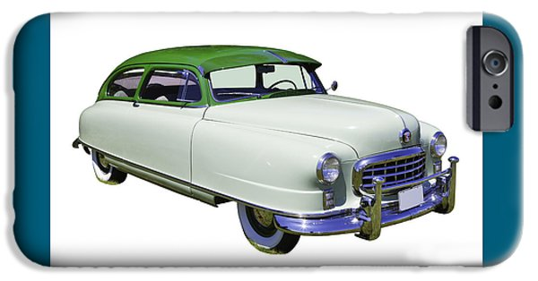 Antique Cars iPhone Cases - 1950 Nash Ambassador Car iPhone Case by Keith Webber Jr