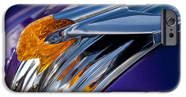 1950 iPhone Cases - 1950 Pontiac Hood Ornament iPhone Case by Jill Reger