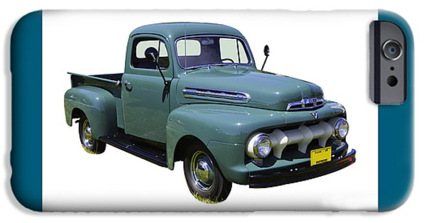 Ford Truck iPhone Cases - 1951 ford F-1 Pickup Truck iPhone Case by Keith Webber Jr