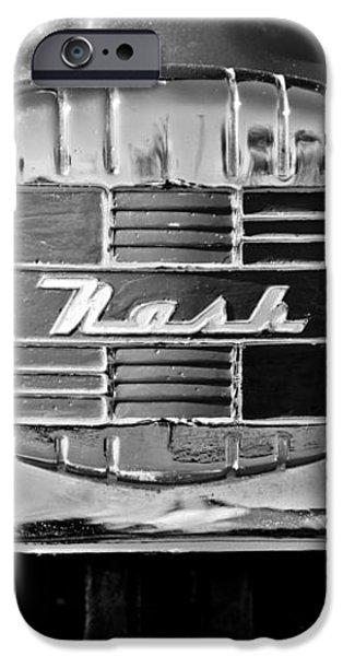 1951 Nash Emblem iPhone Case by Jill Reger