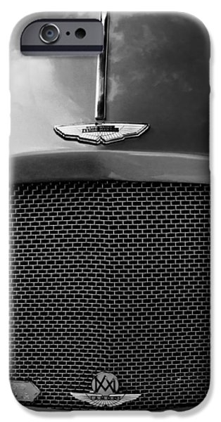 1952 iPhone Cases - 1952 Aston Martin Db2 Grille Emblem iPhone Case by Jill Reger