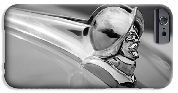 1952 iPhone Cases - 1952 Desoto Hood Ornament iPhone Case by Jill Reger