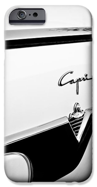 Lincoln iPhone Cases - 1954 Lincoln Capri Convertible Emblem iPhone Case by Jill Reger