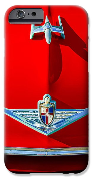 Lincoln iPhone Cases - 1954 Lincoln Capri Hood Ornament iPhone Case by Jill Reger