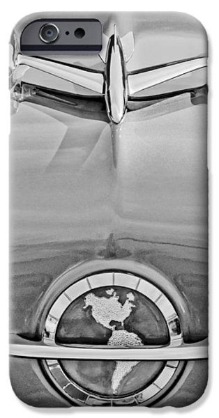 1954 Oldsmobile Super 88 iPhone Cases - 1954 Oldsmobile Super 88 Hood Ornament iPhone Case by Jill Reger