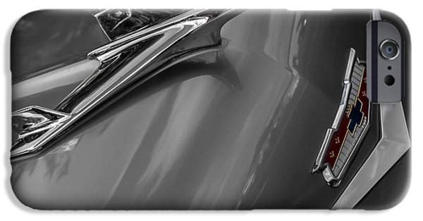 Indy Car iPhone Cases - 1955 Chevrolet Bel Air Eagle iPhone Case by Ron Pate