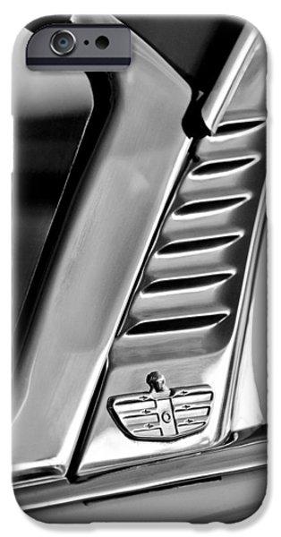 Lancer iPhone Cases - 1955 Dodge Custom Royal Lancer 2 Door Hardtop Emblem iPhone Case by Jill Reger