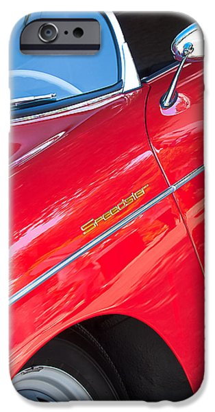 1955 Porsche 356 Speedster iPhone Case by Jill Reger