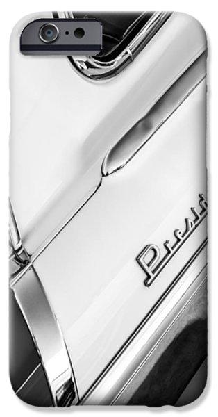 President iPhone Cases - 1955 Studebaker President Side Emblem iPhone Case by Jill Reger