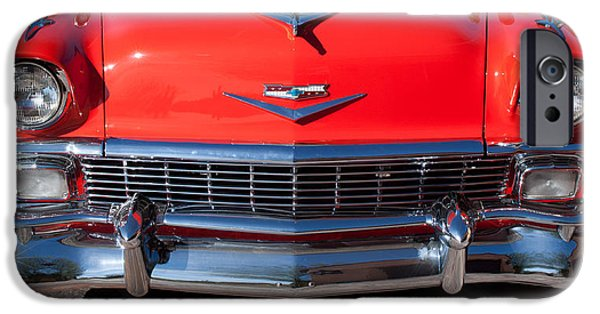 1956 iPhone Cases - 1956 Chevrolet Belair Convertible Custom V8 iPhone Case by Jill Reger